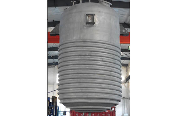 15000L不锈钢半圆管夹套反应釜